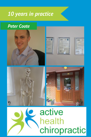Peter Coote ten years in chiropractic
