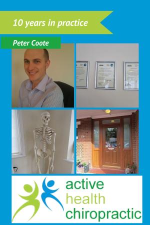 Peter Coote ten years in chiropractic