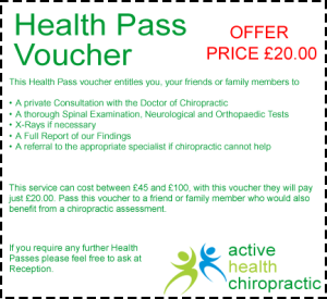 Active Health Chiropractic £20 Health Pass Offer