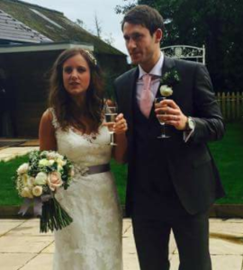 Chris and Sarah on their special day - many congratulations!